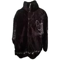 Cat Faces & Paws All-Over Women's Fleece Jacket - X-Large