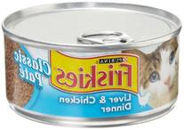 Friskies Wet Cat Food, Classic Pate, Liver & Chicken Dinner