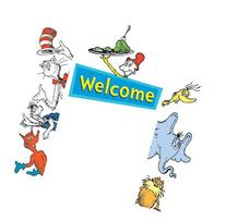 Eureka Cat In The Hat Welcome Go-Around decoration for
