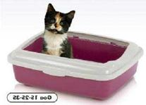 Cat Supplies Goa 1S Small Cat Pan With Rim 14X10x3.5