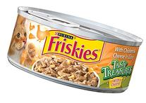 Friskies Wet Cat Food, Tasty Treasures, with Chicken &