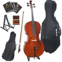 Cecilio CCO-500 Ebony Fitted Flamed Solid Wood Cello with