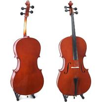 Cecilio CCO-100 Student Cello with Soft Case, Stand, Bow,