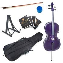 Cecilio CCO-Purple Student Cello with Soft Case, Stand, Bow
