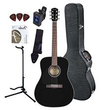 Fender CD-60 Dreadnought Acoustic Guitar Bundle with Hard