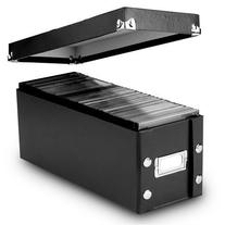 Snap-N-Store CD Storage Boxes, Set of 2 Boxes, Black