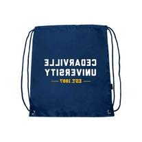 Cedarville Nylon Navy Drawstring Backpack 'Cedarville