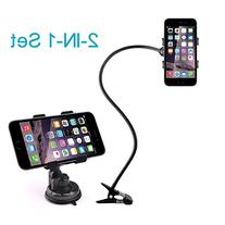 BESTEK Gooseneck Phone Stand Holder +Car Suction Mount Combo