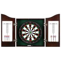 Hathaway Centerpoint Solid Wood Dartboard and Cabinet Set,