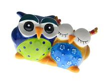 Ceramic Mr. and Mrs. Owl Coin Bank