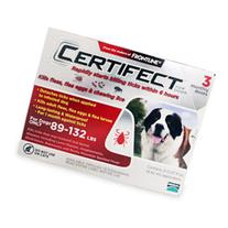 Certifect 	Extra Large Dogs 89-132 lbs  3 Pipette