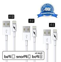 3 ft 5 ft 10ft Certified iPhone 5 & 6 Charging Cable Variety