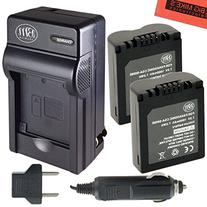 BM Premium Pack of 2 CGA-S006 Batteries and Battery Charger