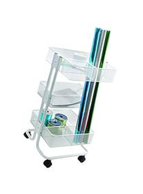 Advantus CH93455 Mobile Gift Wrap Cart, 13.9 x 15.1 x 27.6