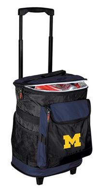 Logo Brands 171-57 NCAA  Michigan Wolverines Rolling Cooler