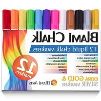 Blami Arts Chalk Markers with extra gold and silver ink. Set