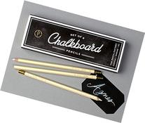 Chalkboard Pencil Set of 8 White Colored Pencils with
