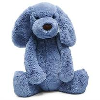 Chambray Blue Puppy With Chime 12 by Jellycat
