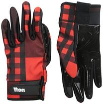 neff Men's Chameleon Pipe Glove, Red Plaid, Medium