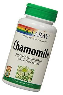 Solaray Chamomile Capsules, 350 mg, 100 Count