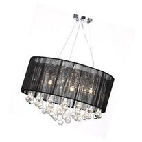 vidaXL Chandelier Black 22x18