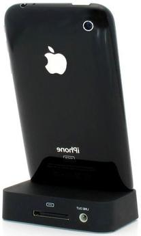 Black Charging Dock Cradle for Apple iPhone 4 with audio