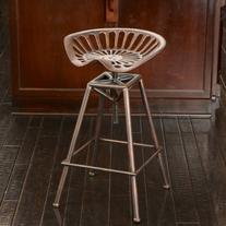 Charlie Industrial Metal Design Tractor Seat Bar Stool