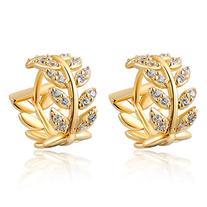 Women Charm Jewerly 14K Gold Plated Stud Dangle Earrings