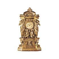 Chateau Chambord Clock in Antique Faux Gold