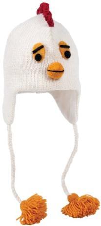 Nirvanna Designs CHCHIX2 Chicken Hat with Fleece, White,