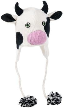 Nirvanna Designs CHCOW Cow Hat with Fleece , White, 5 Years