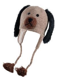 Nirvanna Designs CHCRODG Crochet Dog Hat with Fleece, Brown