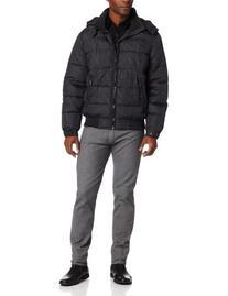 Perry Ellis Men's Check Jacket, Black, X-Large