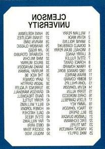 Checklist Card  1990 Collegiate Collection #100