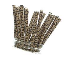 Cheetah Print Straws  - Cheetah Paw Pattern Drinking Straws