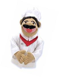 CHEF PUPPET--Toys & Games-Creative Play-Puppets & Puppet