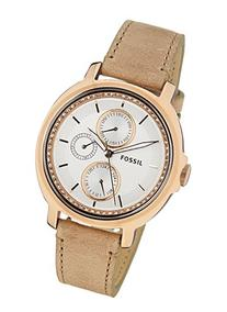 Fossil Women's Chelsey ES3358 Brown Leather Quartz Watch