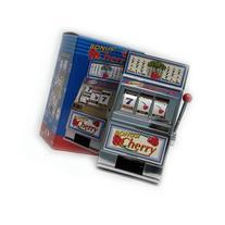 Trademark Poker Cherry Bonus Slot Machine Bank with Spinning