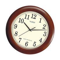 """La Crosse Technology 12"""" Cherry Wood Atomic Analog Clock,"""