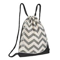 Runetz - Chevron GRAY Gym Sack Bag Drawstring Backpack Sport