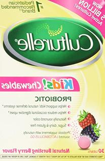 Culturelle Kids! Chewables Probiotic Natural Bursting Berry