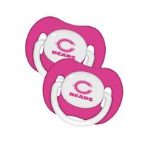 Chicago Bears Pink 2-pack Infant Pacifier Set - 2014 NFL