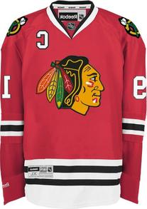 Chicago Blackhawks Jonathan Toews 19 Red Premier Jersey