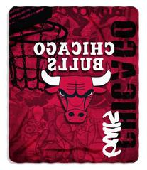 NBA Chicago Bulls Hard Knocks Printed Fleece Throw, 50-inch