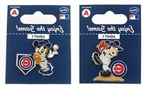 MLB Chicago Cubs Disney Mickey Collectible Trading Pin Set