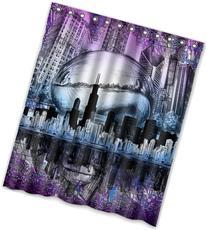 "Top design Chicago skyline Shower Curtain 60"" x 72"" Generic"