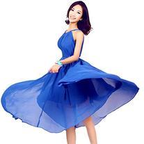 Medeshe Royal Blue Chiffon Bridesmaid Dress