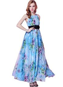 Medeshe Women's Chiffon Floral Long Bridal Evening Party