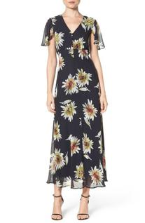 Women's Taylor Dresses Chiffon Maxi Dress, Size 8 - Blue