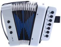 D'Luca Child G105-WT Button Accordion, White